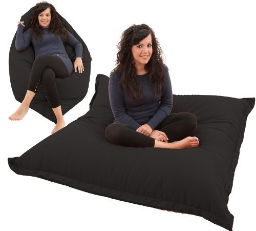 RAVIOLI GIANT   Bean Bag Chair Beanbag Floor Cushion (Black)