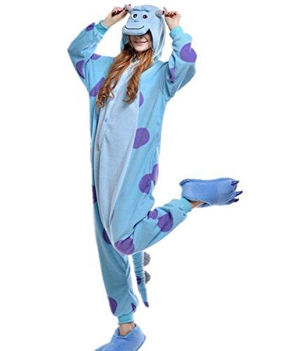 [VenusDress Unisex Kigurumi Monsters University Pajamas Onesie Adult Costume Sleepwear] (Monster University Costumes)