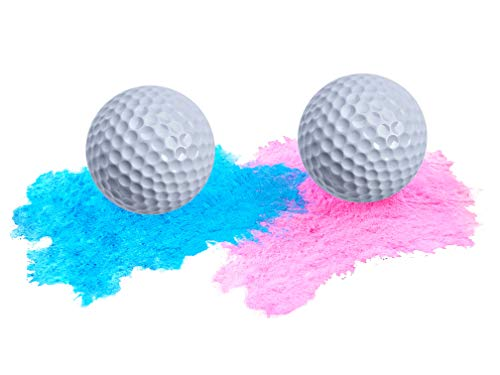 Baby Gender Reveal Exploding Golf Balls - Blue and Pink Set for Boy or Girl Reveal Party | 3X More Powder! | -