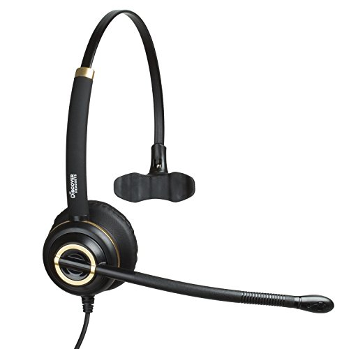Discover D711 Deluxe Mono Wired Telephone Headset For Office Workers and Call Center Agents- 3 Year Warranty by Discover®