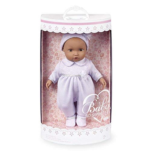 You & Me Baby So Sweet Nursery Doll Precious African American in Lavender