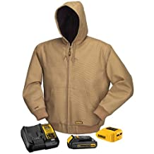 DEWALT DCHJ064C1-S 20-Volt/12-Volt Max Hooded Heated JKT Kit, Small, Khaki
