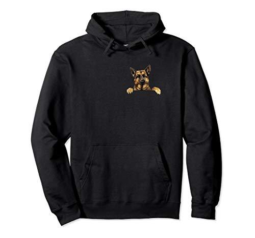 German Shepherd Clothes - German Shepherd In Pocket T Shirt Cute Funny German Shepherd Pullover Hoodie