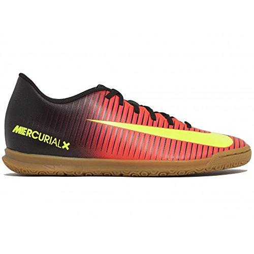 Nike Herren MercurialX Vortex III IC Fußballschuhe Naranja (Total Crimson / Vlt-Blk-Pnk Blst)