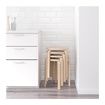 Ikea Frosta Hocker Aus Birkensperrholz Stapelbar 10 Stück Amazon