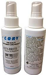 Key-Brite Piano Key Cleaner 4 oz by Cory, Distributed by A Fully Authorized Cory Products Dealer