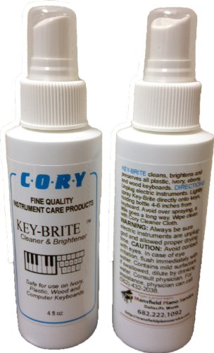 Key-Brite Piano Key Cleaner 4 oz by Cory, Distributed by A Fully Authorized Cory Products Dealer ()