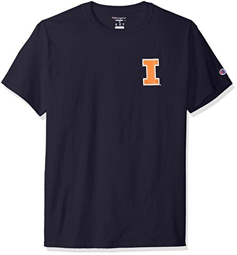 (Champion NCAA Illinois Illini Men's Pride Short Sleeve T-Shirt, Large, Navy)