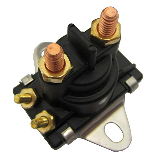 Trim Solenoid - Solenoid, stepped mounting plate, outboard starters & MerCrusier Starters and Power Trim