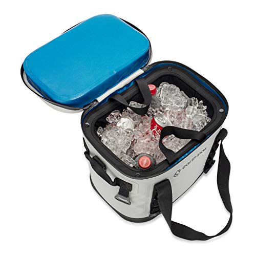 Earth Pak Heavy Duty Waterproof 20-Can Soft Cooler Bag for Camping, Sports, Fishing, Kayaking, Beach Trips - Mesh Tote Insert Included