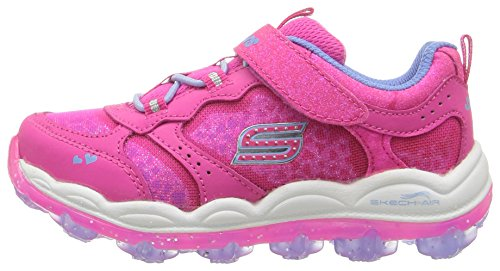 Skechers Kids Girls' Skech-Air Stardust Running Shoe, Periwinkle Neon Pink, 8 M US Toddler
