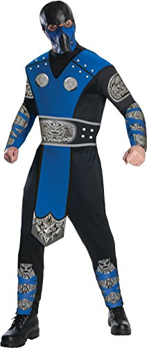 Video Game Character Costumes (Mortal Kombat Adult Sub-Zero Costume And Mask, Blue/Black, X-Large)