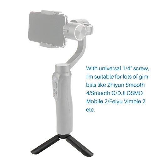 UlanziMiniTripodStandforSelfieStickMonopod Stabilizer on Cellphone DSLR Cameras,Portable Folding Desktop Stand for Projector forZHIYUNSmoothQ/Smooth 4/ Feiyu/OSMO Mobile 2 Gimbal