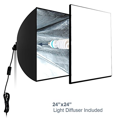 LimoStudio Photo Shoot Tent 24-inch with Color Background, Lightbulb & Soft Box, Light Stand Tripod, Professional Product/Commercial Photography, Photo Studio Lighting Kit, AGG1895V2 by LimoStudio (Image #5)