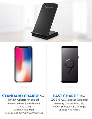Seneo Wireless Charger Qi Certified Wireless Charging