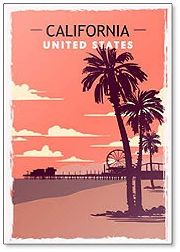 Calamita da frigo California Retro Illustration