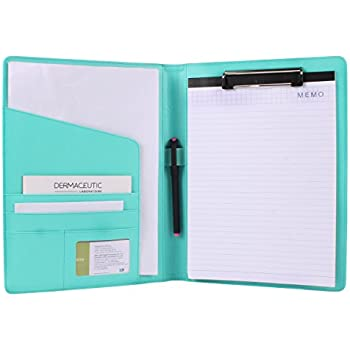 Amazon.com : Geila PU Leather Resume Storage Clipboard Folder Portfolio Padfolio for Business