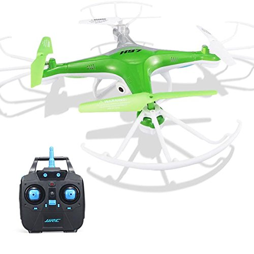 Gbell Kids Drone LED With Camera,JJRC H97 2.4GHz 4CH 6-Axis RC Quadcopter for Beginner,Kids Adults Birthday Christmas New Year Gifts,Green Red (Green) by Gbell-USA Warehouse