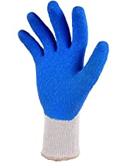 G & F 1630 Heavy Duty Rubber Latex Coated Work Gloves for Construction