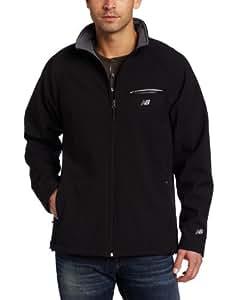 New Balance Men's Soft Shell Zip Front Jacket, Large, Black