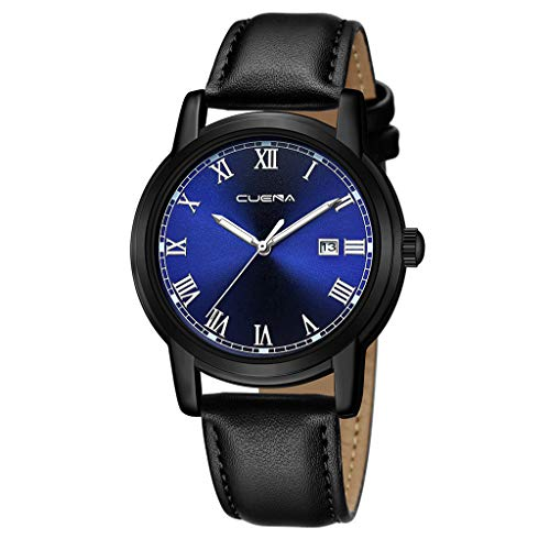 XBKPLO Mens Quartz Watch,Vintage Rome Business Fashion Gentleman Automatic Date Analog Wrist Watches Stainless Steel Mesh Strap ()