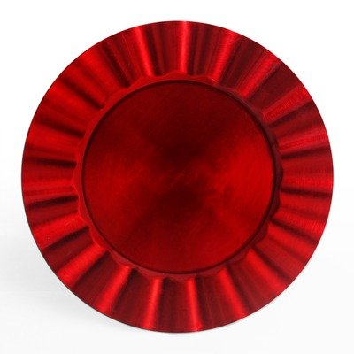 chargeit-by-jay-round-ruffle-charger-plate-red