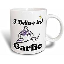 3dRose I Believe in Garlic Ceramic Mug, 15-Ounce