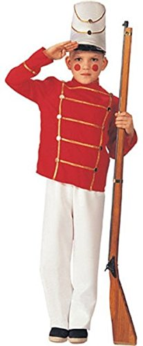 Kids Boys XMAS Costume Nutcracker Toy Soldier Outfit M Boys Medium (5-7 years) (Soldiers Outfit)