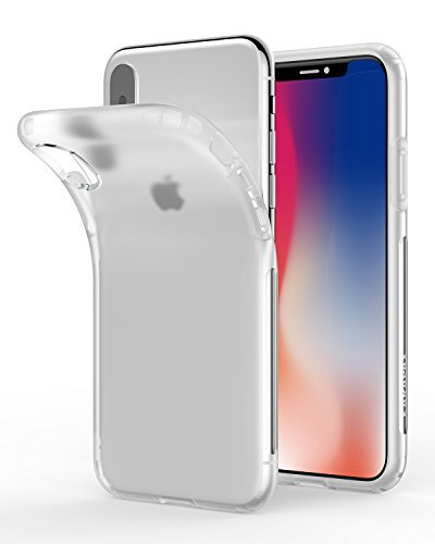 iPhone X Case, iPhone 10 Case, Anker KARAPAX Touch Case Matte Finish Flexible Soft Gel TPU Cover Shell Skin [Support Wireless Charging] [Thin Slim Fit] [Anti Scratch] for Apple 5.8 In iPhone X - White