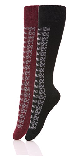 DoSmart-Womens-Winter-Warm-Knee-High-Socks-Boot-Socks-2-Pairs-Multi-Color