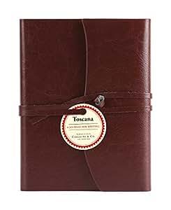 Cavallini Toscana Journals Red 5 x 7, Hardbound Leather