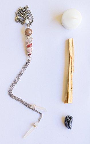 - Crystal Healing Wire Wrapped Stone Totem Choker, Bolo Style, Cupid with Peach Moonstone, Moonstone, Milky Quartz, Rose Quartz, Cherry Quartz, Rhodonite