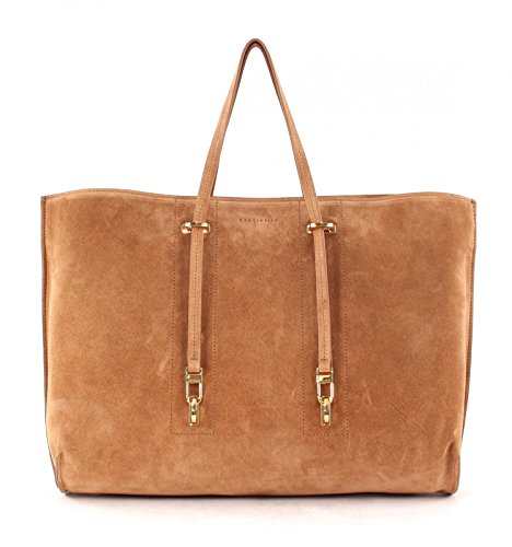COCCINELLE Iggy Suede Sac Shopper Bag Cuoio