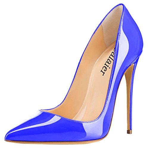 Calaier col D tacco donna Scarpe Blu Cahen rz0RqwEY0