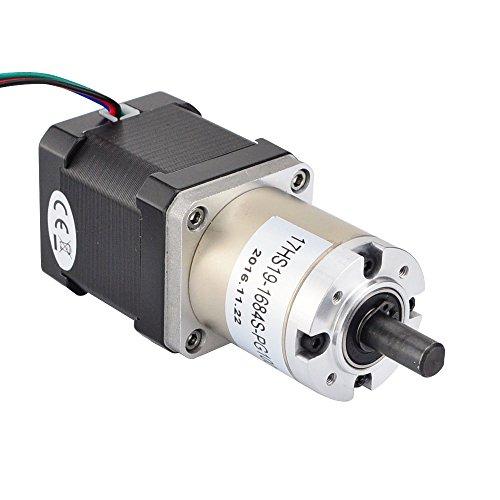 100 1 planetary gearbox nema 17 stepper motor low speed for Nema 17 stepper motor torque