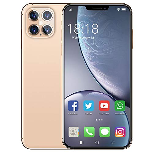 WOF Android phone unlocked-i12Pro Max 12GB RAM+512GB Cell Phone,5000mAh,5G SIM, 6.7 inch FHD Display,Android 10.0,Face…