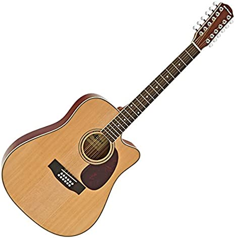Guitarra Acustica Dreadnought de 12 Cuerdas Gear4music: Amazon.es ...