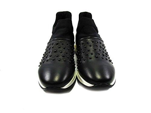 De Mujer Piel Morelli Zapatillas Para Negro Andrea Twq0xEw