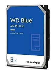 """Western Digital 3TB WD Blue PC Hard Drive - 5400 RPM Class, SATA 6 Gb/s, 256 MB Cache, 3.5"""" - WD30EZAZ"""