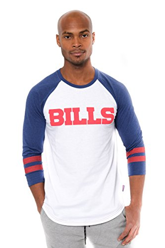 ICER Brands Men's T Raglan Baseball 3/4 Long Sleeve Tee Shirt, White, X-Large