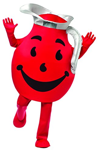 Cool Halloween Costumes For Guys (Rasta Imposta Men's Kool Aid Guy Deluxe, Red/Black/Silver, One)