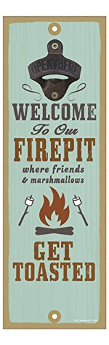 SJT ENTERPRISES, INC. Welcome to Our firepit Where Friends and Marshmallows get Toasted (Firepit with Roasting Sticks Image) 5