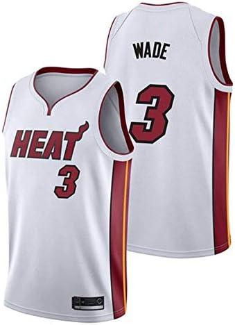 TAMA/ÑO: S-XXL xisnhis Camisetas NBA,Camiseta de Baloncesto para Hombre,Mujeres Jersey Hombre NBA Miami Heat # 3 Wade Bordado de Malla de Baloncesto Swingman Jersey