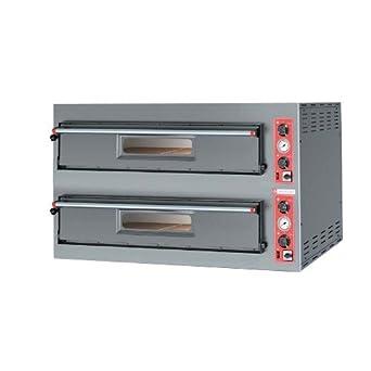 Horno para pizza pizzería eléctrico 9+9 pizzas RS3649: Amazon.es ...