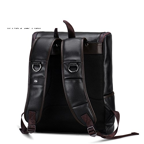 Men Bag Computer Leather Outdoor Capacity B Travelling High B Casual Bag Student Bag Backpack 5ZzwqH