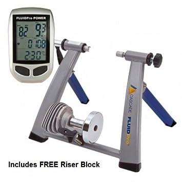 Cascade Health & Fitness ruedas de bicicleta Fluidpro gigafish, azul/plata, talla única