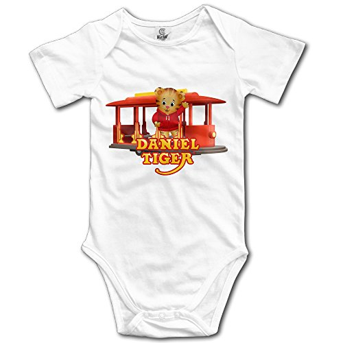 (Daniel Tiger's Neighborhood Logo2 Custom Baby Girl Boy Rompers)
