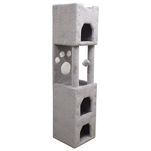 New Cat Condos Premier 6' Cat Tower, Gray