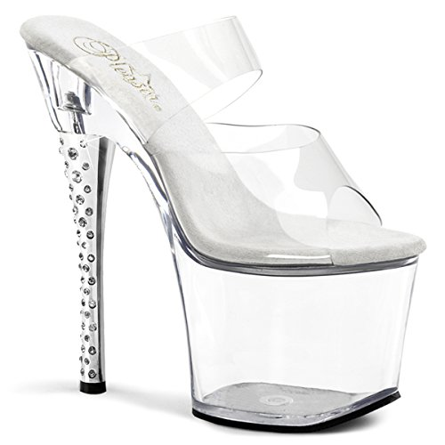 Pleaser Clear and Diamond Women's B Platform 702 C Clear AcrARnW7w