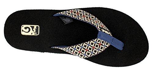 Teva Femmes Mush Ii Flip-flop Rombo Noir / Multi